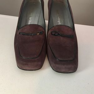 Stephanie Kelian Paris Suede Heeled Loafers 9.5